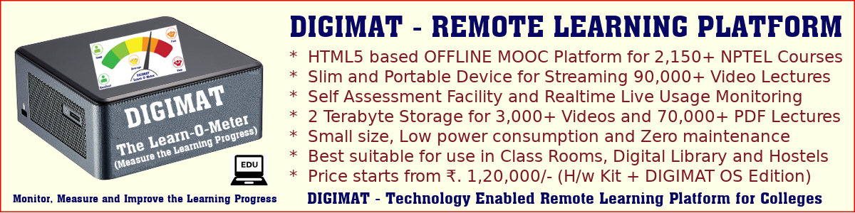 DIGIMAT Remote Learning Platform (OS)